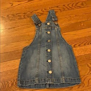 Gap denim over all's dress! Size XS